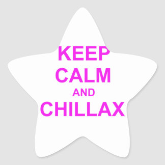 Keep Calm and Chillax orange pink red Star Stickers