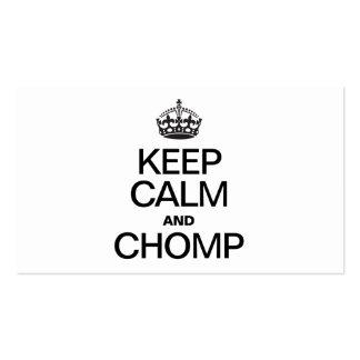 KEEP CALM AND CHOMP BUSINESS CARD TEMPLATES