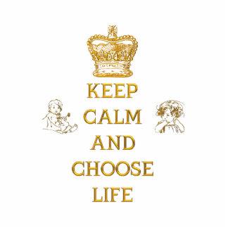 Keep Calm and Choose Life Cutout