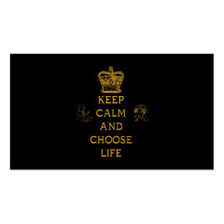 Keep Calm and Choose Life Double-Sided Standard Business Cards (Pack Of 100)
