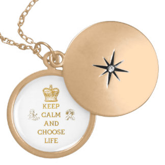 Keep Calm and Choose Life Locket Necklace
