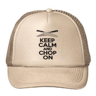 Keep Calm and Chop On Mesh Hats