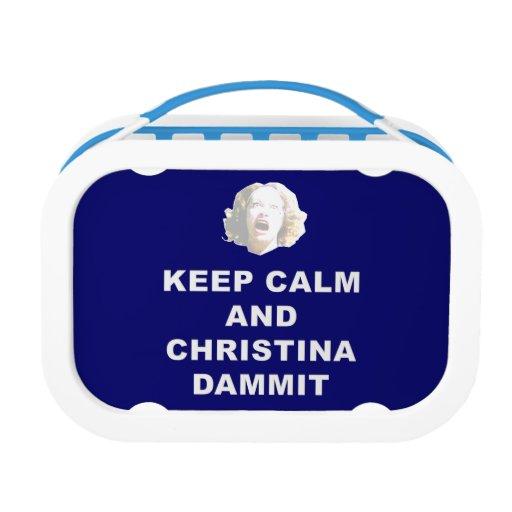 Keep Calm and Christina Dammit Lunch Box
