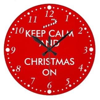 Keep Calm and Christmas On Candy Cane Customizable