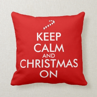 Keep Calm and Christmas On Candy Cane Customizable
