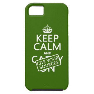 Keep Calm and Cite Your Sources (in any color) iPhone SE/5/5s Case