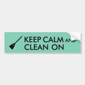 Keep Calm and Clean On Broom Custom