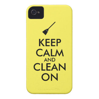 Keep Calm and Clean On Broom Custom iPhone 4 Cover