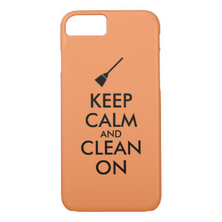 Keep Calm and Clean On Broom Custom iPhone 8/7 Case