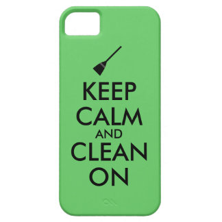 Keep Calm and Clean On Broom Custom iPhone SE/5/5s Case