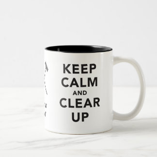 Keep Calm and Clear Up Mug