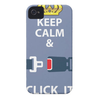 Keep Calm and Click It iPhone 4 Cases