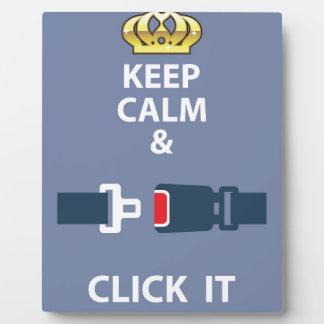 Keep Calm and Click It Plaque