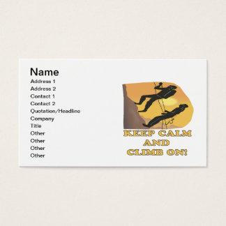 Keep Calm And Climb On Business Card