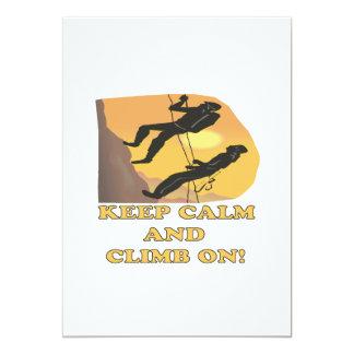 Keep Calm And Climb On Card