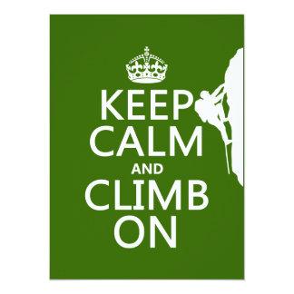 Keep Calm and Climb On (customizable color) Card