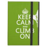 Keep Calm and Climb On (customizable color) iPad Cases