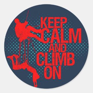 Keep Calm and Climb On Mountain Climbing Sticker