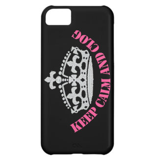 Keep Calm and Clog Princess Crown Pink iPhone 5C Cases