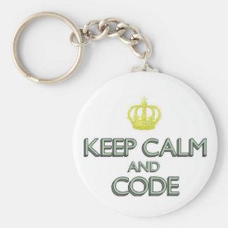 Keep Calm and Code Keychain