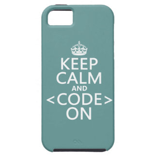 Keep Calm and <Code> On - all colours iPhone SE/5/5s Case