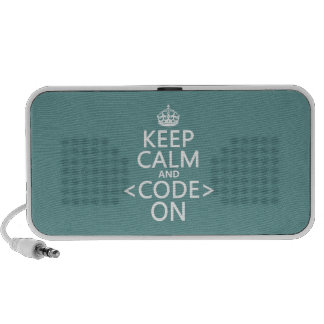 Keep Calm and <Code> On - all colours Portable Speaker