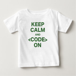 Keep Calm and Code On Baby T-Shirt