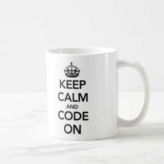 Keep Calm and Code On mug