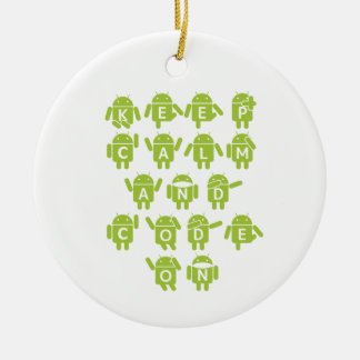 Keep Calm And Code On Software Developer Bugdroid Ornaments