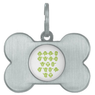 Keep Calm And Code On Software Developer Bugdroid Pet ID Tags