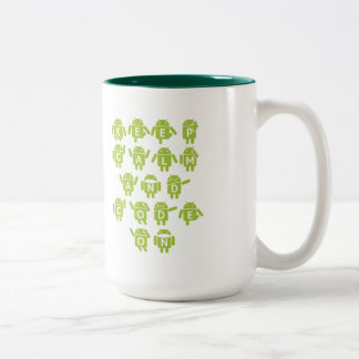 Keep Calm And Code On Software Developer Bugdroid Two-Tone Coffee Mug