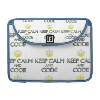 Keep Calm and Code Sleeves For MacBook Pro