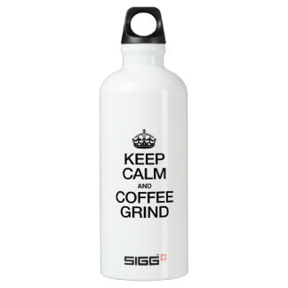 KEEP CALM AND COFFEE GRIND SIGG TRAVELER 0.6L WATER BOTTLE