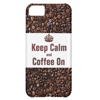 Keep Calm and Coffee On iPhone5 Case