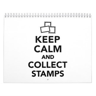 Keep calm and collect stamps calendar