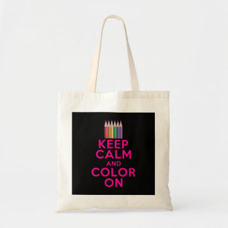 Keep Calm and Color On Tote Bag