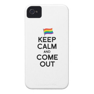 KEEP CALM AND COME OUT Case-Mate iPhone 4 CASES