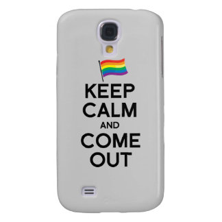 KEEP CALM AND COME OUT GALAXY S4 CASE