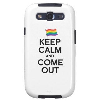KEEP CALM AND COME OUT GALAXY SIII COVERS