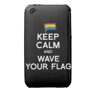 KEEP CALM AND COME OUT iPhone 3 CASE