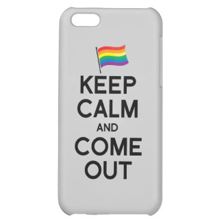 KEEP CALM AND COME OUT iPhone 5C COVER