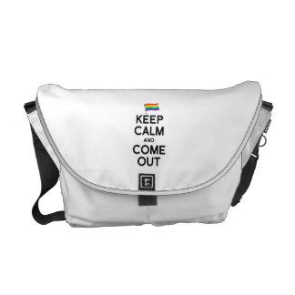 KEEP CALM AND COME OUT MESSENGER BAG