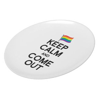 KEEP CALM AND COME OUT PARTY PLATES