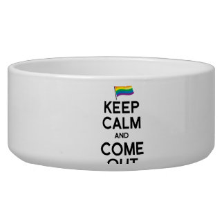 KEEP CALM AND COME OUT PET BOWLS