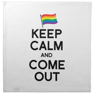 KEEP CALM AND COME OUT PRINTED NAPKIN