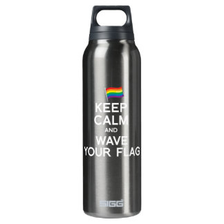 KEEP CALM AND COME OUT 16 OZ INSULATED SIGG THERMOS WATER BOTTLE