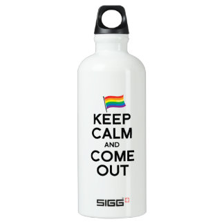 KEEP CALM AND COME OUT SIGG TRAVELER 0.6L WATER BOTTLE