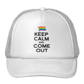 KEEP CALM AND COME OUT TRUCKER HAT