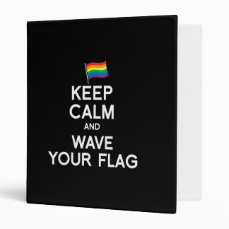 KEEP CALM AND COME OUT VINYL BINDERS