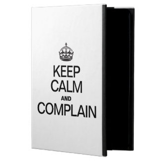 KEEP CALM AND COMPLAIN iPad AIR COVERS